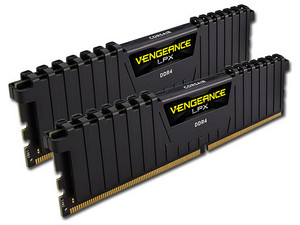 Memoria Corsair Vengeance DDR4, PC4-19200 (2400MHz), CL14, 16 GB (2 x 8 GB), kit con 2 piezas 8GB.