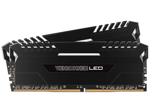 Memoria Corsair Vengeance LED blanco DDR4, PC4-24000 (3000 MHz), CL15, 16 GB (2 x 8 GB), kit con 2 piezas 8GB.