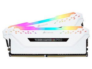 Memoria Corsair Vengance RGB Pro DDR4 PC4-24000 (3000MHz), 16 GB (2 x 8GB). Color Blanco.