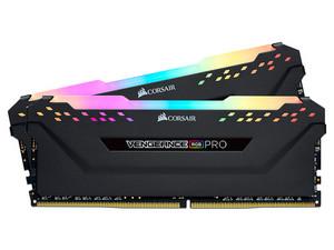 Memoria Corsair Vengeance RGB pro DDR4 PC4-28800 (3600MHz), 16GB (2 x 8GB), Kit con dos piezas de 8GB, iluminación RGB. Color negro.