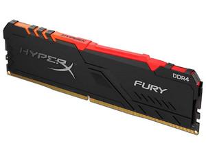 Memoria Kingston HyperX Fury, RGB, DDR4 PC4-19200 (2400MHz), CL15, 16GB.