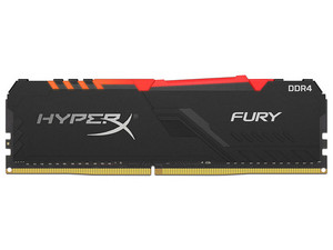 Memoria Kingston HyperX Fury RGB DDR4, PC4-25600 (3200MHz), CL16, 16GB.