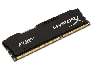 Memoria Kingston HyperX Fury DDR3 PC3-10600 (1333 MHz) CL9, 8 GB. Color Negro.