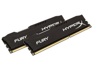 Memoria Kingston HyperX Fury, PC3-10600 (1333MHz), 8 GB, Kit con dos piezas de 4GB.