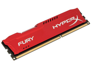 Memoria Kingston HyperX Fury DDR3 PC3-10600 (1333 MHz) CL9, 8 GB.