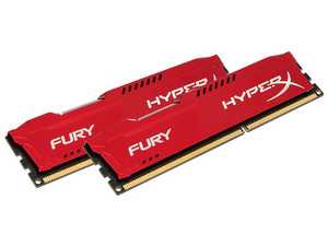 Memoria Kingston HyperX Fury DDR3 PC3-10600 (1333 MHz) CL9, 8 GB, Kit con dos piezas de 4GB.