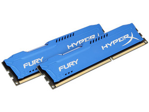 Memoria Kingston HyperX Fury DDR3 PC3-12800 (1600 MHz) CL10, 8 GB, Kit con dos piezas de 4GB.