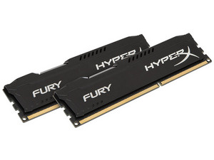 Memoria Kingston HyperX Fury DDR3 PC3-14900 (1866 MHz), CL10, 16 GB (2 x 8 GB).