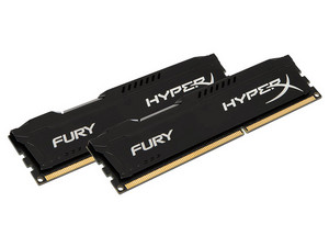 Memoria Kingston HyperX Fury, PC3-15000 (1866MHz), 8 GB, Kit con dos piezas de 4GB.