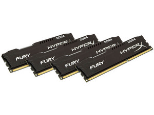 Memoria Kingston Hyper X DDR4-17000 (2133MHz), CL14, 32 GB (4 x 8 GB).
