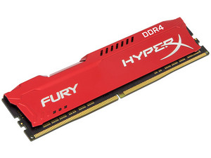 Memoria Kingston HyperX Fury Red DDR4, 2133 MHz, CL14, 16 GB.