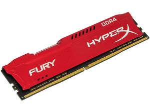 Memoria Kingston HyperX Fury Red DDR4, PC4-17000 (2133MHz) CL14, 8 GB.