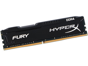 Memoria Kingston HyperX Fury DDR4, PC4-19200 (2400MHz), CL15, 16 GB.