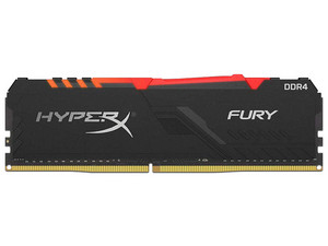 Memoria Kingston HyperX Fury DDR4 PC4-19200 (2400MHz), CL15, 8GB.