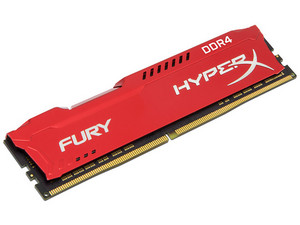 Memoria Kingston HyperX Fury DDR4, PC4-19200 (2400MHz), CL15, 8 GB.