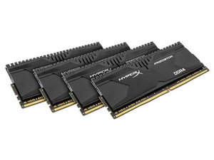 Memoria Kingston Hyper X Fury DDR4, PC4-21300 (2666 MHz), CL15, 16GB (4 x 4GB), Kit con cuatro piezas de 4GB.