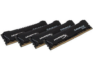 Memoria Kingston HyperX Savage HX430C15SB2K4/32 DDR4, PC4-24000 (3000 MHz), CL15, 32GB (4 x 8 GB).
