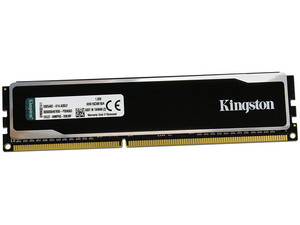 Memoria Kingston HyperX black DDR3 PC3-12800 (1600 MHz) CL9, 4 GB.
