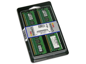 Memoria Kingston ValueRAM 1GB (2 x 512MB) DDR2 SDRAM (800Mhz - PC2-6400) Dual Channel, Kit con dos piezas de 512 MB