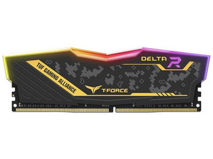 Memoria TeamGroup Delta TUF RGB, DDR4, PC4-25600 (3200MHz), CL16, 8GB.