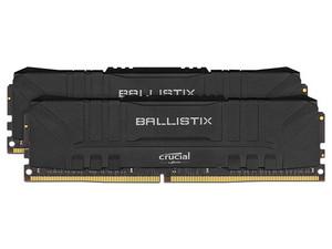 Memoria RAM Crucial Ballistix Black Heatsink, 16 GB (2 x 8GB), DDR4, 3600MHz (PC4-28800), Non ECC, CL15.