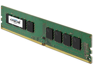 Memoria Crucial DDR4, PC4-17000 (2133MHz) CL15, 4 GB.
