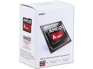 Procesador (APU) AMD A4-6300 a 3.7 GHz (hasta 3.9 GHz) con Gráficos Radeon HD 8370D, Caché 1MB, Socket FM2, Dual-Core, 32nm, 65W.