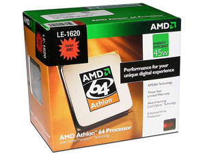 Procesador AMD Athlon 64 LE-1620, Cache L2 1MB, Socket AM2, Bajo Consumo 45Watts.