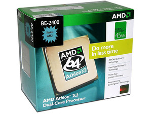 Procesador AMD Athlon X2 BE-2400, Dual Core a 2.3GHz, Cache L2 2x512KB, Socket AM2, Bajo Consumo 45Watts.