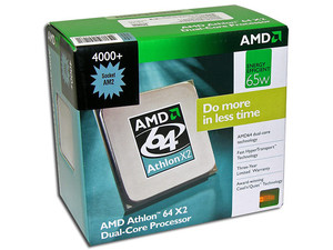 Procesador AMD Athlon 64 X2 4000+, Dual Core a 2.1GHz, Cache L2 2x512KB, Socket AM2, En caja.