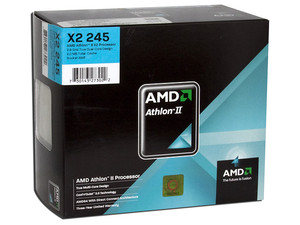 Procesador AMD Athlon II X2 245, 2.9GHz, Cache L2 2x1MB, Socket AM3, Dual Core, 65W.