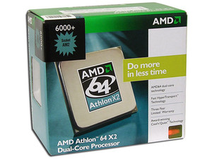 Procesador AMD Athlon 64 X2 6000+, Dual Core a 3.0GHz, Cache L2 2x1MB, HT 2000MHz, Socket AM2.