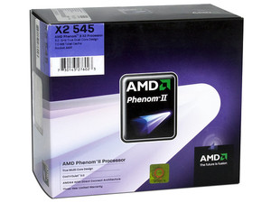 Procesador AMD Phenom II X2 545, 3.0GHz, Cache L2 2x512KB, L3 6MB, Socket AM3, Dual-Core, 80W.
