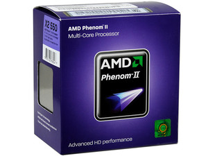 Procesador AMD Phenom II X2 550, 3.1GHz, Cache L2 2x512KB, L3 6MB, Socket AM3, Dual-Core, 80W.