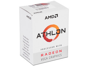 Procesador AMD Athlon 200GE, 3.2 GHz con gráficos Radeon Vega 3, Socket AM4, Dual-Core, 35W.