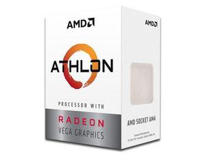 Procesador AMD Athlon 220GE, 3.4 GHz con gráficos Radeon Vega 3, Socket AM4, Dual-Core, 35W.