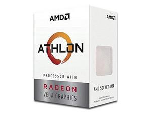 Procesador AMD Athlon 240GE, 3.5 GHz con gráficos Radeon Vega 3, Socket AM4, Dual-Core, 35W.