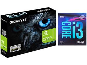 Procesador Intel Core i3-9100F de Novena generación, 3.60 GHz (hasta 4.20 GHz), Socket 1151, Caché 6MB, Quad-Core, 14nm. No incluye gráficos integrados. Incluye Tarjeta de Video NVIDIA GeForce GT 710