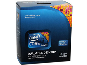 Procesador Intel Core i3  530 a 2.93 GHz con  Intel HD Graphics, Socket 1156, L3 Cache 4MB, Dual-Core, 32nm.