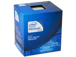 Procesador Intel Pentium G2120 a 3.1 GHz con Intel HD Graphics, Socket 1155, Dual Core, 22nm.