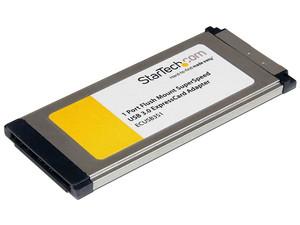 Tarjeta Adaptador ExpressCard/34 USB 3.0 SuperSpeed de 1 Puerto con UASP - Montaje al Ras - Flush Mount