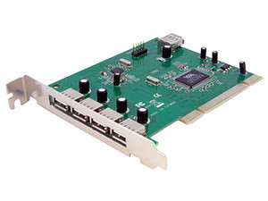 Tarjeta Controladora StarTech con 4 Puertos USB externos y 3 internos, PCI.