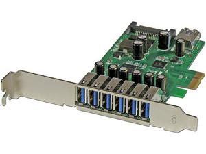 Adaptador tarjeta PCI Express de 7 puertos USB 3.0 con perfil bajo o completo.