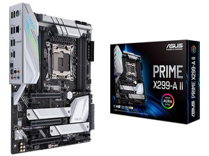 T. Madre ASUS Prime X299-A II, ChipSet Intel X299, Soporta: Procesadores Intel Core X-Series de Socket 2066, Memoria: DDR4 4000(O.C.)/3600(O.C.)/2400/2133 MHz, 64GB Max, SATA 3.0, USB 3.0, Integrado: Audio HD, Red Gigabit, ATX