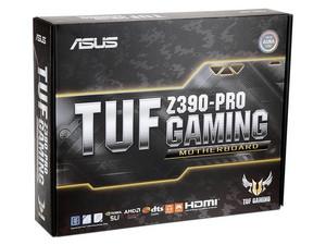 T. Madre ASUS TUF Z390-PRO GAMING, ChipSet Intel Z390, Soporta: Core i9/i7/i5/i3 de 9na y 8va gen, Socket 1151, Memoria: DDR4 4266(O.C.)/3200(O.C.)/2133 MHz, 64GB Max, Integrado: Audio HD, Red, USB 3.1 y SATA 3.0, ATX, Ptos: 3xPCIEX16, 3xPCIEX1.
