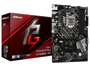 T. Madre ASRock Z390 Phantom Gaming 4S, Chipset Intel Z390, Soporta: Core i9/i7/i5/i3 de 9na y 8va Gen, Socket 1151, Memoria: DDR4 4300(OC)/3400(OC)/2133 MHz, 128GB Max, Integrado: Audio HD, Red, USB 3.2 y SATA 3.0, M.2, ATX.