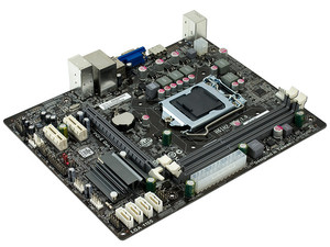 T  Madre ECS H61H2-M2-B3, ChipSet Intel H61 Express, Soporta: Core