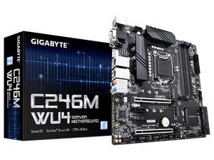 T. Madre Gigabyte C246M-WU4, Chipset Intel C346M, Soporta: Intel Xeon E / 8va y 9na Generación de Intel Core, 128GB Max, Integrado: Audio HD, Red, USB 3.1 y SATA 3.0, M.2, ATX, Ptos: 2xPCIEx16, 2xPCIEx1.