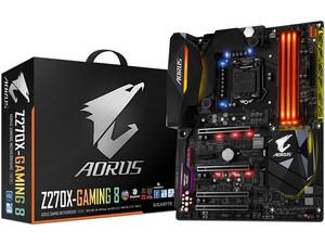T. Madre GIGABYTE AORUS Z270X-GAMING 8, ChipSet Intel Z270, Soporta: Intel Core i7/i5/i3/Pentium de 6ta y 7ma gen.., de Socket 1151, Memoria: DDR4 4133(O.C.)/ 3200(O.C.)/ 2133 MHz, 64 GB Max, Integrado: Audio HD, Red, ATX, Ptos: 4xPCIEx16, 2xPCIEx1.