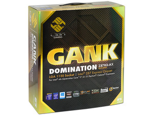 T. Madre L337 Gaming Gank Domination Z87H3-AX Golden, Chipset Z87 Exp., Soporta: Core i7/i5/i3 Socket 1150,